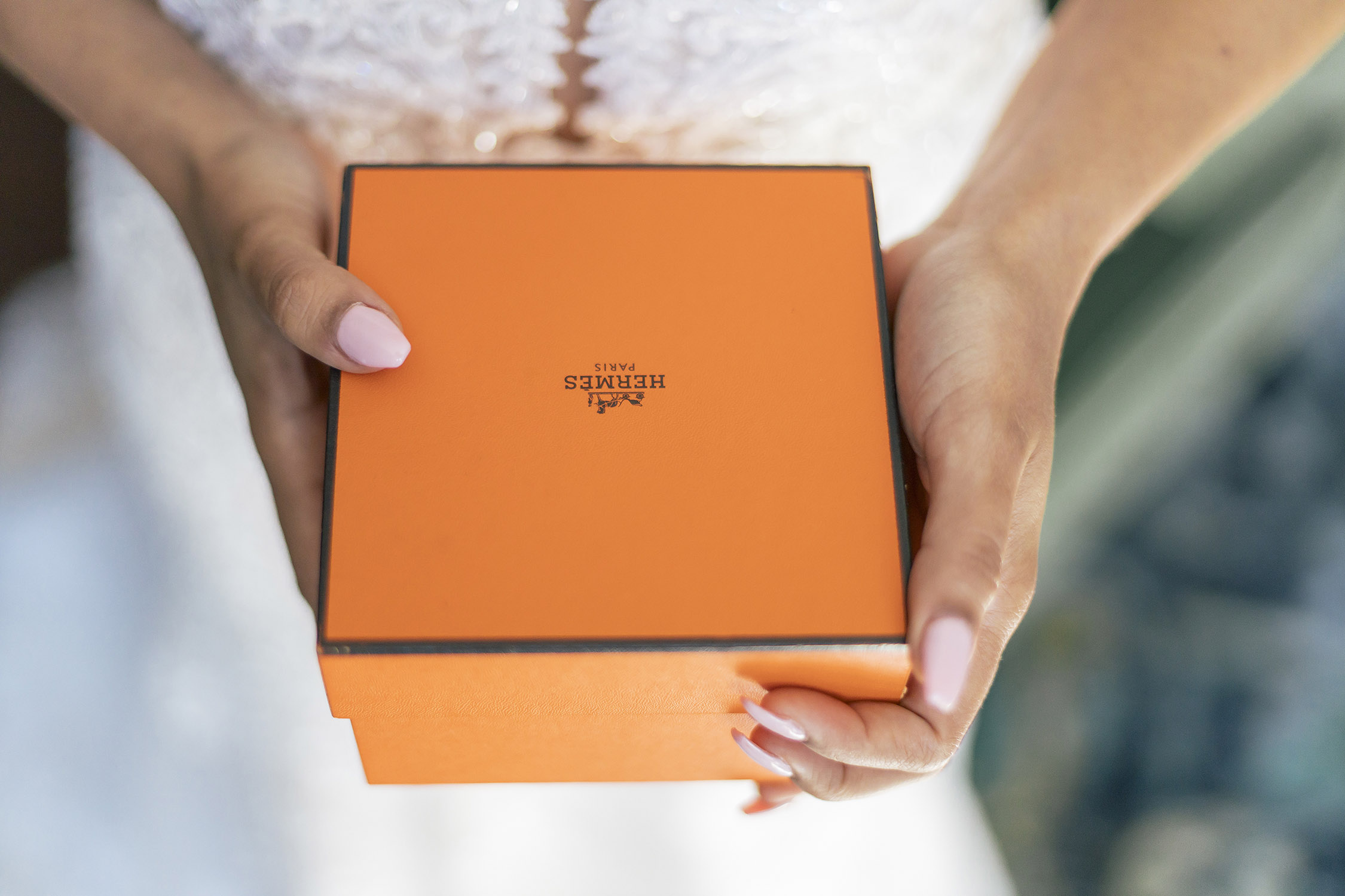 Hermes Orange Box DC Wedding Photography